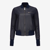 Bally Women's Leather Blouson In Ink Blue