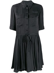 Zadig And Voltaire Satin Robe Chemise Black