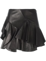 Alexander Mcqueen Ruffled Mini Skirt Black
