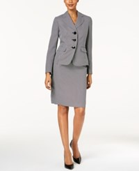 Le Suit Three Button Skirt Black Ivory