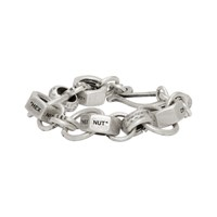 Off White Silver Hex Nut Bracelet