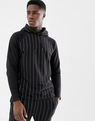 Another Influence Pinstripe Hoodie Black