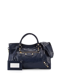 Balenciaga Giant 12 Golden City Bag Dark Blue