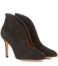Gianvito Rossi Vamp 85 Suede Ankle Boots Black