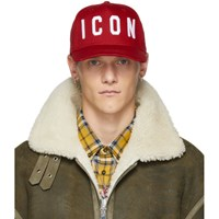 Dsquared2 Red And White Icon Baseball Cap