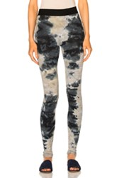 Enza Costa Rib Cuffed Legging In Abstract Blue Gray Ombre And Tie Dye Abstract Blue Gray Ombre And Tie Dye