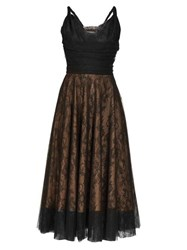 Rochas Pralina Chantilly Lace And Tulle Dress Black