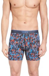 Saxx Quest 2.0 Boxer Briefs Navy Tile Camo