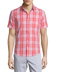 Penguin Plaid Short Sleeve Sport Shirt Spiced Coral