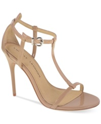 Chinese Laundry Leo T Strap Dress Sandals Women's Shoes Nude