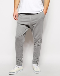 Solid Solid Drop Crotch Sweatpants Grey
