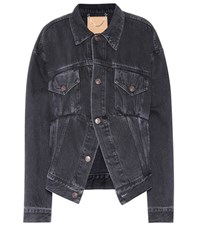 Balenciaga Denim Jacket Black