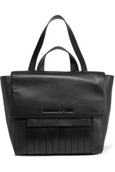Mcq By Alexander Mcqueen Swank Paneled Leather Shoulder Bag Black