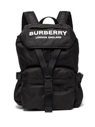 Burberry Wilfin Small Logo Printed Backpack Black