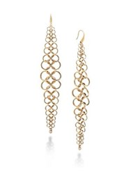 Michael Kors Chainmail Drop Earrings Gold
