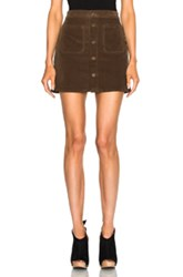 Mother Patch Pocket Mini Skirt In Brown