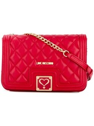 Love Moschino Chain Strap Shoulder Bag Red