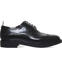 Thom Browne Patent Jelly Derby Shoes Black