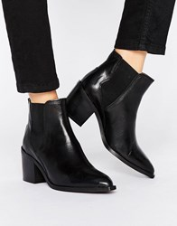 Selected Femme Elena High Heel Leather Boot Black