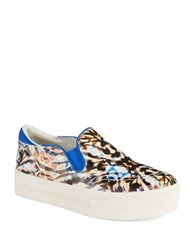 Ash Jungle Platform Slip Ons Natural