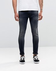 Replay Jondrill Skinny Jeans Power Stretch Dark Blasted Wash Dark Wash Blue
