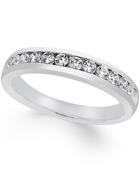 Macy's Certified Diamond Channel Set Band 1 2 Ct. T.W. In Platinum