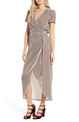 Wayf Women's Next To You Velvet Wrap Dress