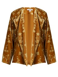 Elizabeth And James Audrey Floral Print Velvet Jacket Dark Yellow