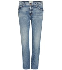 Current Elliott The Unrolled Fling Slim Boyfriend Jeans Blue