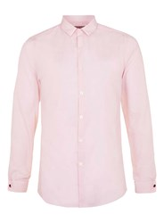 Topman Pink Long Sleeve Smart Shirt