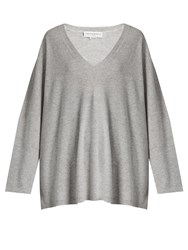 Amanda Wakeley Vikander Oversized Cashmere Sweater Grey