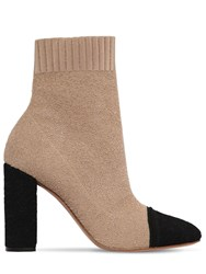 Gianvito Rossi 85Mm Knit Boucle Ankle Boots Array 0X57a72e8