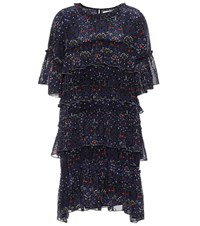 Velvet Lulu Floral Printed Dress Blue