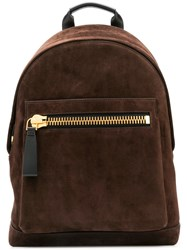 Tom Ford Oversized Zip Backpack Brown