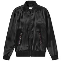 Saint Laurent Beaded Teddy Jacket Black