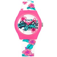 Superdry Syl160wp Women's Urban Tropical Silicone Strap Watch Multi