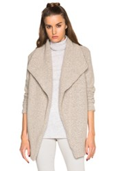 James Perse Open Drape Cardigan Sweater In Neutrals