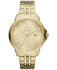 Armani Exchange Ax Men's Copeland Gold Tone Stainless Steel Bracelet Watch 44Mm Ax2267