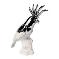 Pols Potten Cockatoo Statue White Silver