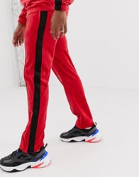 Weekday Local Velour Joggers In Red