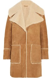 Mih Jeans M.I.H Fairport Shearling Coat Tan