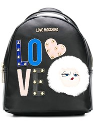 Love Moschino Small Backpack Black