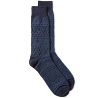 Anonymous Ism Mountain Range Sock Blue