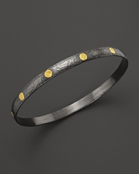 Gurhan Sterling Silver And 24K Gold Midnight Bangle Silver Yellow Gold