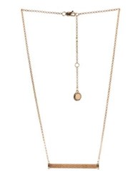 Bcbgeneration Chain Wrap Bar Necklace Gold