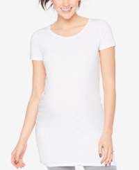 Motherhood Maternity Ruched Tee Black And White