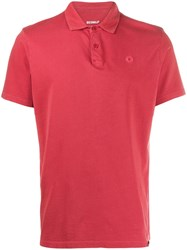 Ecoalf Short Sleeved Polo Shirt Red