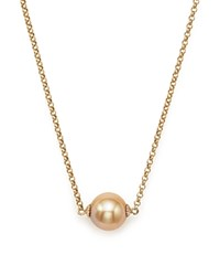 Bloomingdale's Cultured South Sea And Natural Color Golden Pearl Pendant Necklace In 14K Yellow Gold 18 Champagne Gold