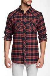 Burnside Long Sleeve Plaid Shirt Red