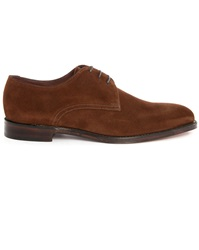 Loake Downing Brown Suede Derbies
